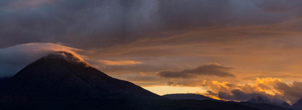 Beinn na Caillich at sunset